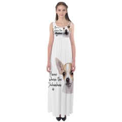 Chihuahua Empire Waist Maxi Dress