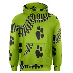 Green Prints Next To Track Men s Pullover Hoodie