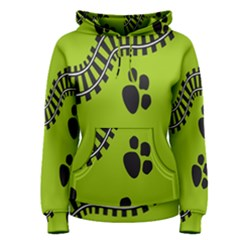 Green Prints Next To Track Women s Pullover Hoodie