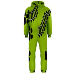 Green Prints Next To Track Hooded Jumpsuit (men)
