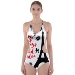 Paris Cut-Out One Piece Swimsuit