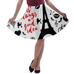 Paris A-line Skater Skirt
