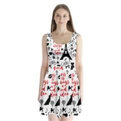 Paris Split Back Mini Dress