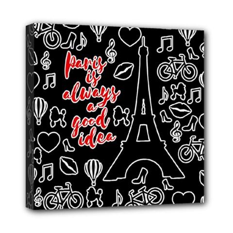 Paris Mini Canvas 8  x 8