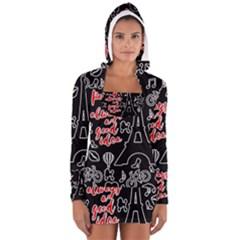Paris Women s Long Sleeve Hooded T-shirt
