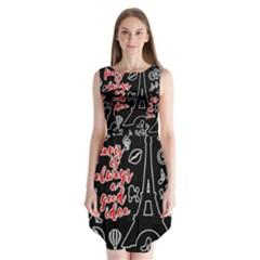 Paris Sleeveless Chiffon Dress