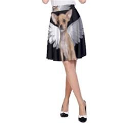 Angel Chihuahua A-Line Skirt