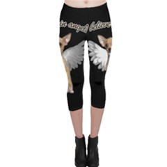 Angel Chihuahua Capri Leggings