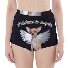 Angel Chihuahua High-Waisted Bikini Bottoms