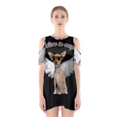 Angel Chihuahua Shoulder Cutout One Piece