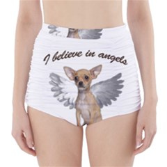 Angel Chihuahua High-Waisted Bikini Bottoms