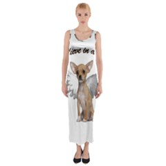 Angel Chihuahua Fitted Maxi Dress