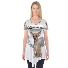 Angel Chihuahua Short Sleeve Tunic