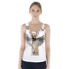 Angel Chihuahua Racer Back Sports Top