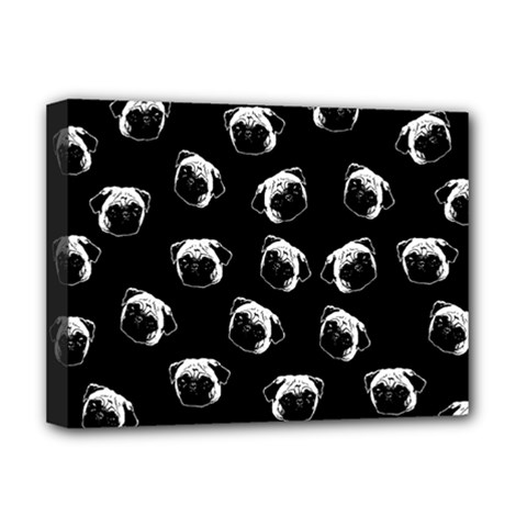 Pug dog pattern Deluxe Canvas 16  x 12