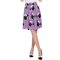 Pug dog pattern A-Line Skirt