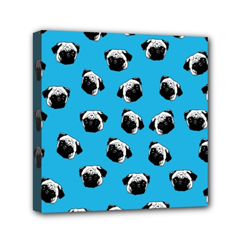 Pug dog pattern Mini Canvas 6  x 6