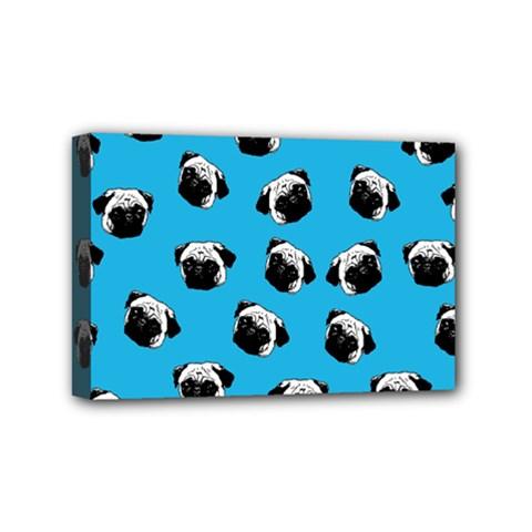 Pug dog pattern Mini Canvas 6  x 4