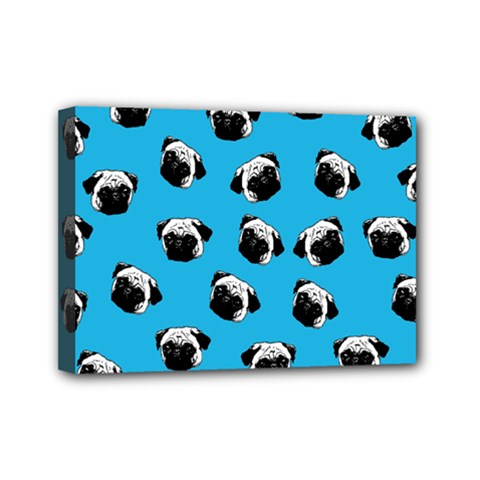 Pug dog pattern Mini Canvas 7  x 5