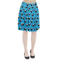 Pug dog pattern Pleated Skirt
