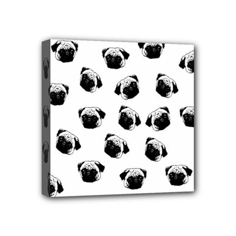 Pug dog pattern Mini Canvas 4  x 4