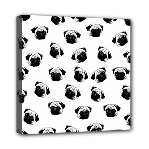 Pug dog pattern Mini Canvas 8  x 8