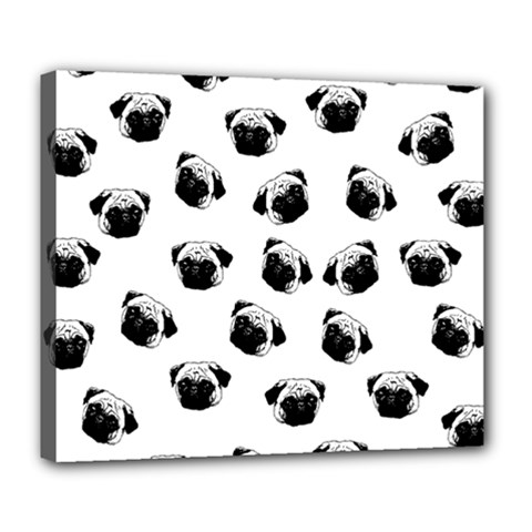 Pug dog pattern Deluxe Canvas 24  x 20