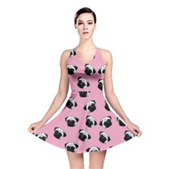 Pug dog pattern Reversible Skater Dress