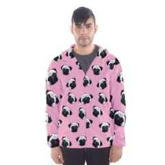 Pug dog pattern Hooded Wind Breaker (Men)