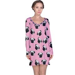 Pug dog pattern Long Sleeve Nightdress