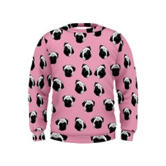 Pug dog pattern Kids  Sweatshirt