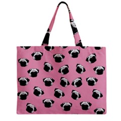 Pug dog pattern Zipper Mini Tote Bag