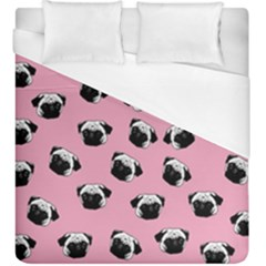 Pug dog pattern Duvet Cover (King Size)