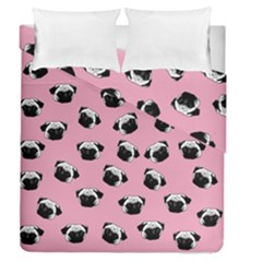 Pug dog pattern Duvet Cover Double Side (Queen Size)