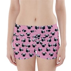Pug dog pattern Boyleg Bikini Wrap Bottoms