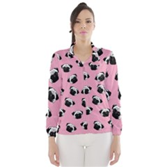 Pug dog pattern Wind Breaker (Women)