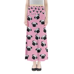 Pug dog pattern Maxi Skirts