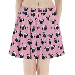 Pug dog pattern Pleated Mini Skirt