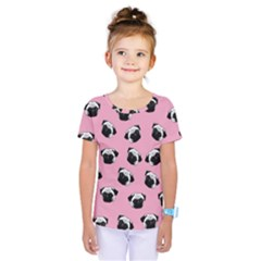 Pug dog pattern Kids  One Piece Tee