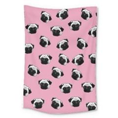 Pug dog pattern Large Tapestry