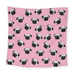 Pug dog pattern Square Tapestry (Large)