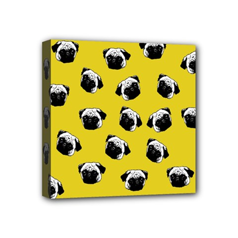 Pug dog pattern Mini Canvas 4  x 4