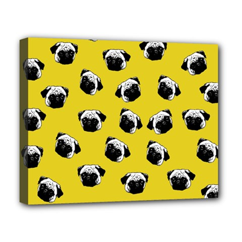 Pug dog pattern Deluxe Canvas 20  x 16