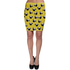 Pug dog pattern Bodycon Skirt