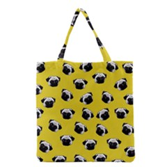 Pug dog pattern Grocery Tote Bag