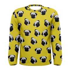 Pug dog pattern Men s Long Sleeve Tee