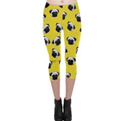 Pug dog pattern Capri Leggings