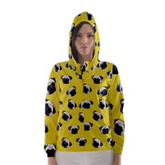 Pug dog pattern Hooded Wind Breaker (Women)