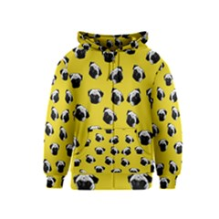 Pug dog pattern Kids  Zipper Hoodie