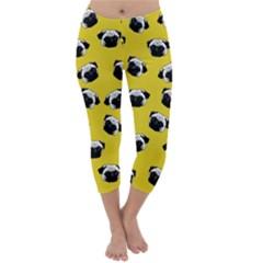 Pug dog pattern Capri Winter Leggings